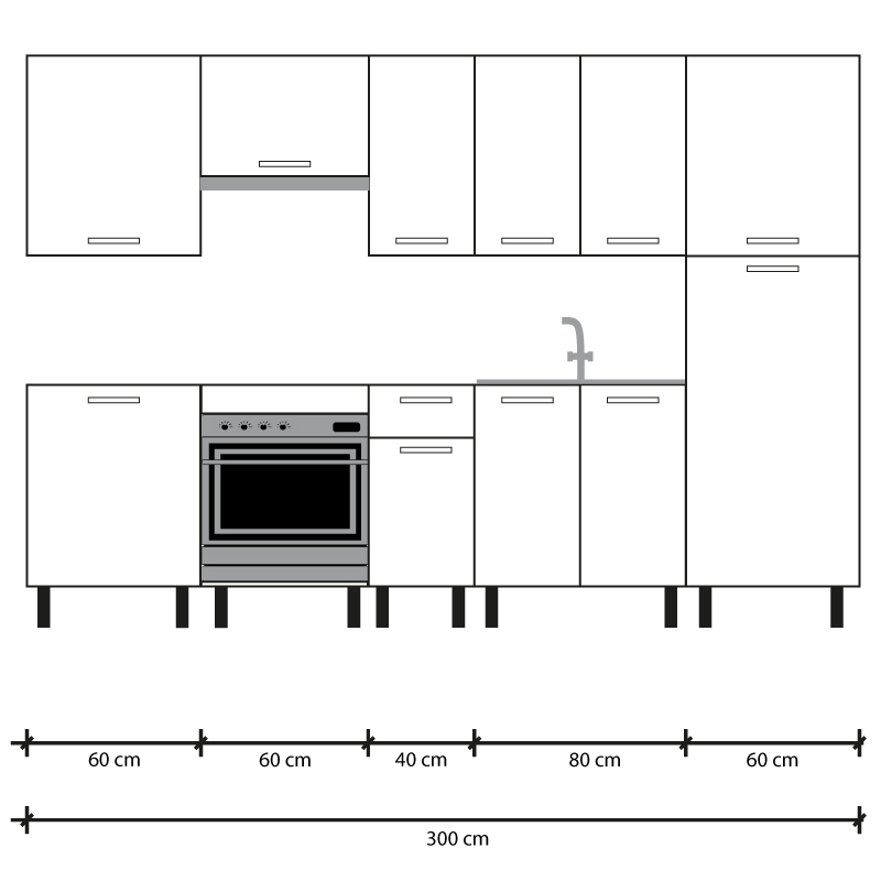Cocina en kit Meka blanco