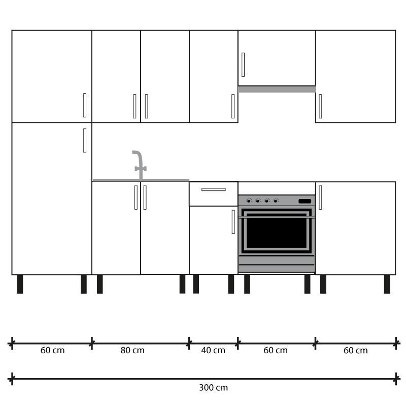 Cocina en kit Meka roble